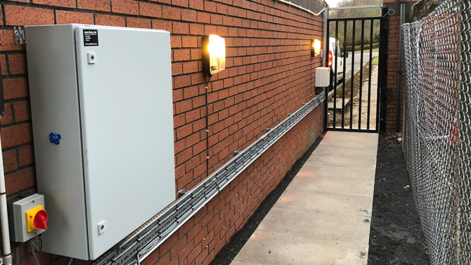 Cable Containment & Electrical Installation For Electric Gates By Auto Entry Ltd