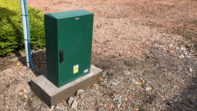 Street Cabinet For Electric Gate Power Supply By Auto Entry Ltd